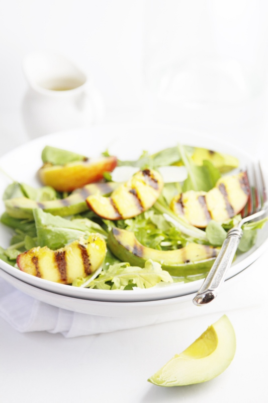 Grilled Peach and Avocado Summer Salad
