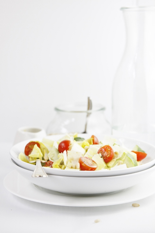 Endive Tomato Cucumber Salad | www.bellalimento.com