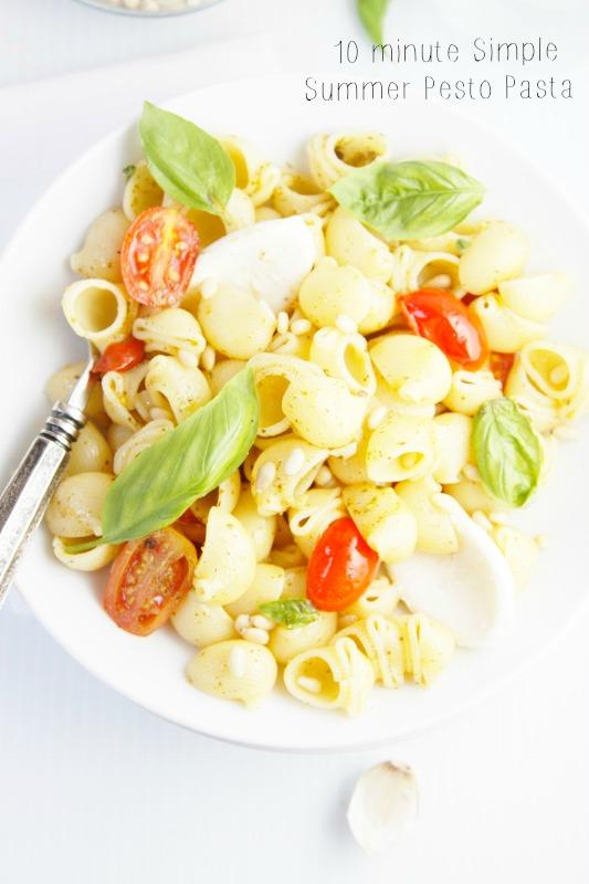 Simple Summer Pesto Pasta    www.bellalimento.com