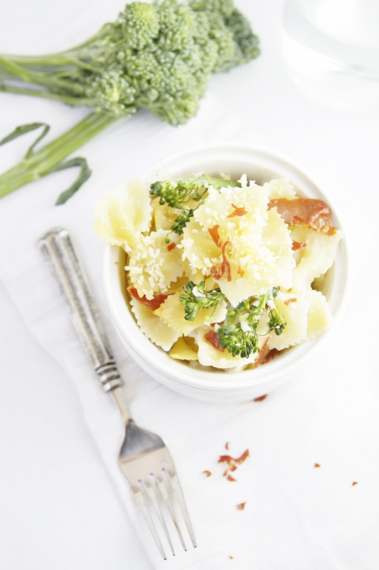 Cheesy Baked Pasta with Broccolini www.bellalimento.com www.bellalimento.com