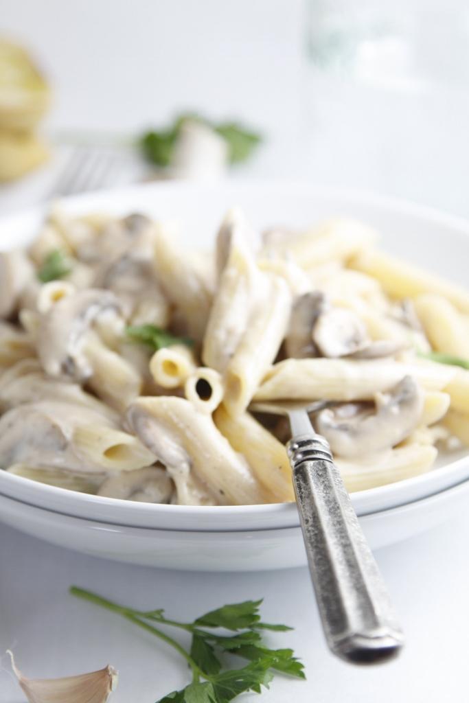 Creamy Mushroom Fettuccine Recipe — Dishmaps