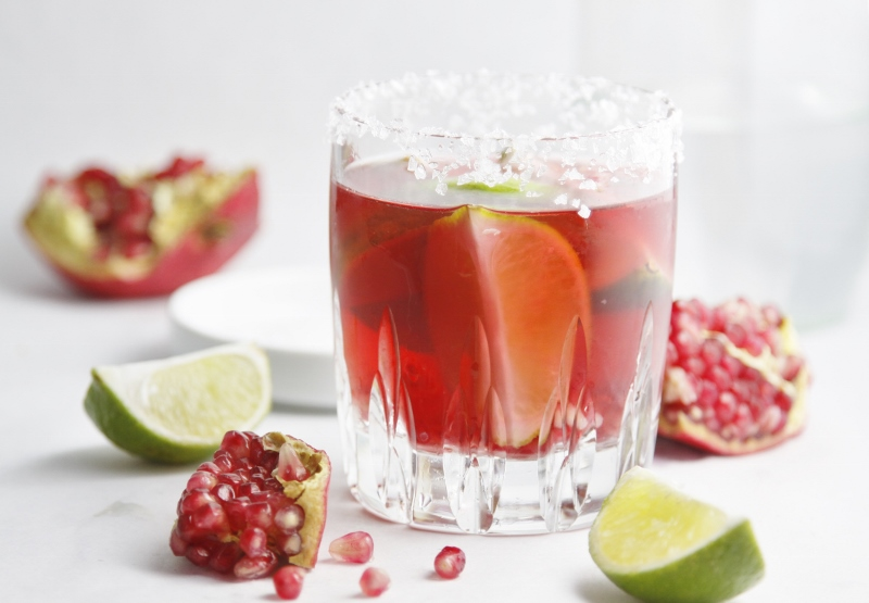 Pomegranate Lime Margarita www.bellalimento.com