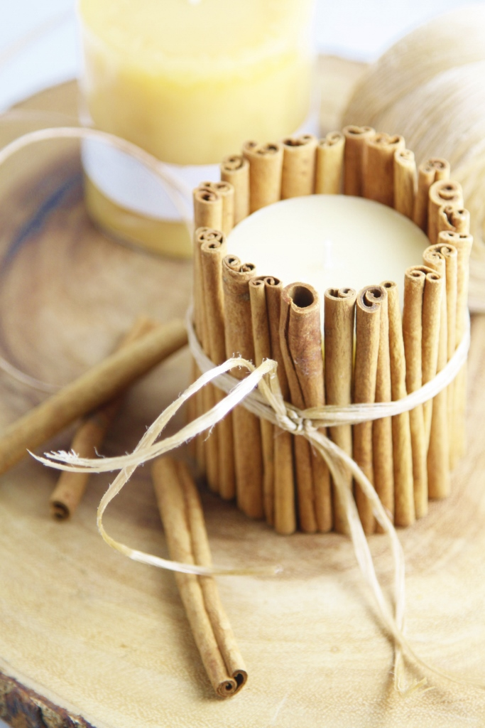Diy Cinnamon Wrapped Candles Bell Alimento Bell Alimento