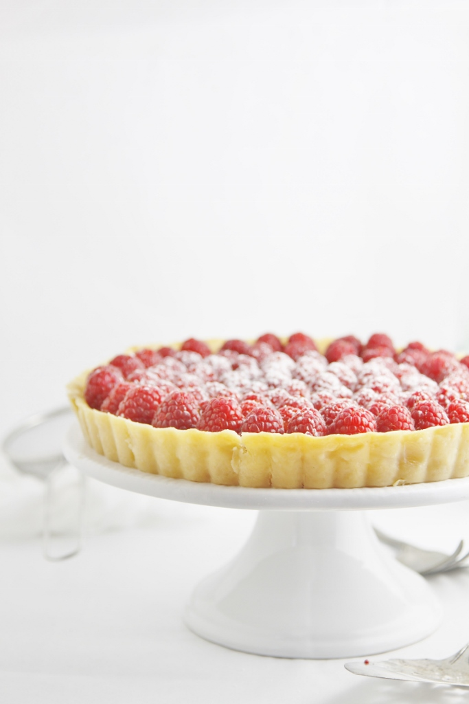 Lemon Tart with Raspberries www.bellalimento.com