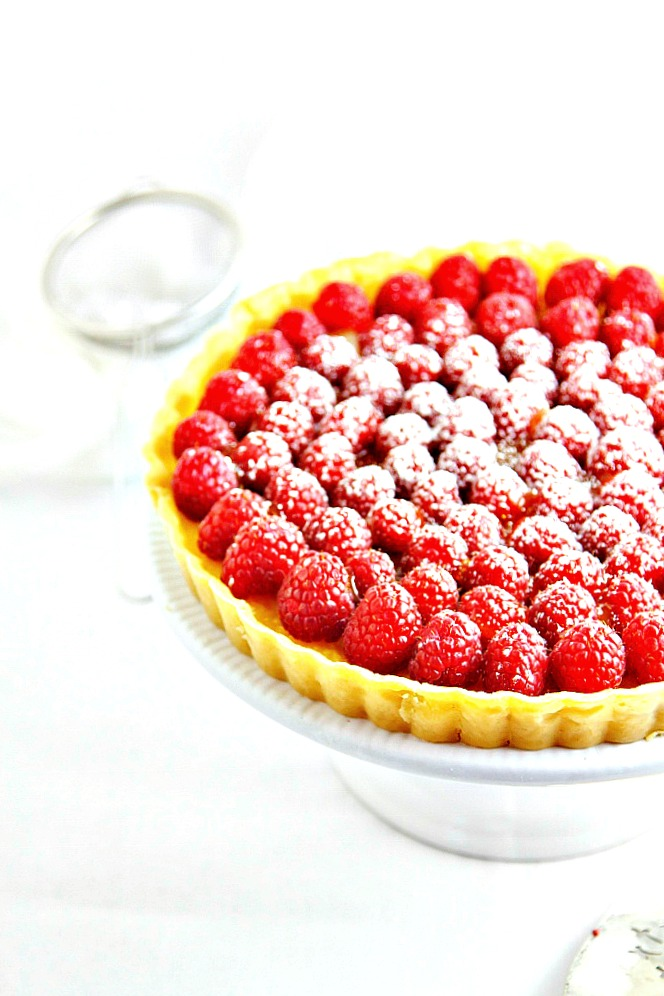 Lemon Tart with Raspberries