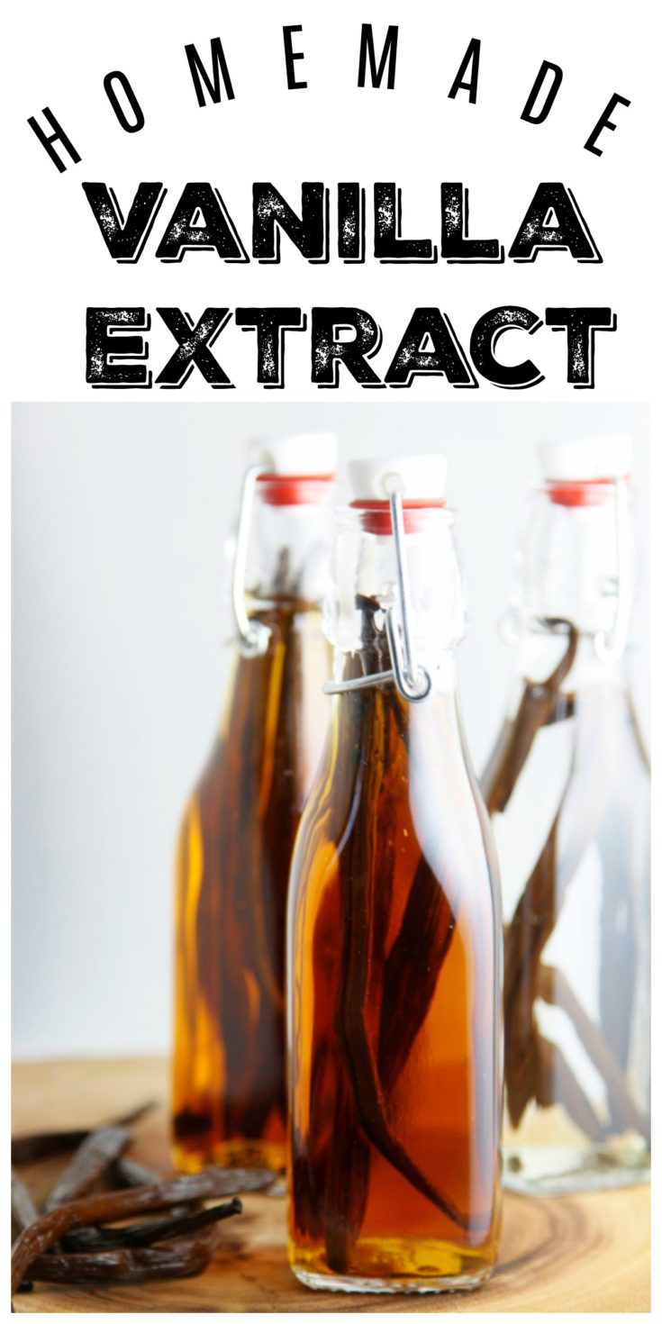 DIY Vanilla Extract is made using two simple ingredients. Great to use or to give away as a homemade gift #extract #homemade #vanillaextract #vegetarian