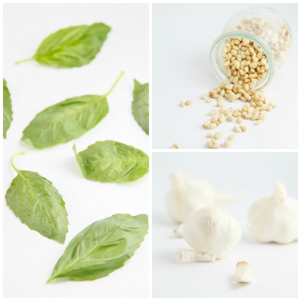 Pesto Ingredient Collage www.bellalimento.com