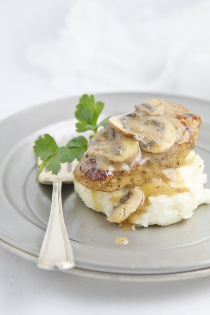 Pork Medallions with Mushroom Marsala Sauce www.bellalimento.com