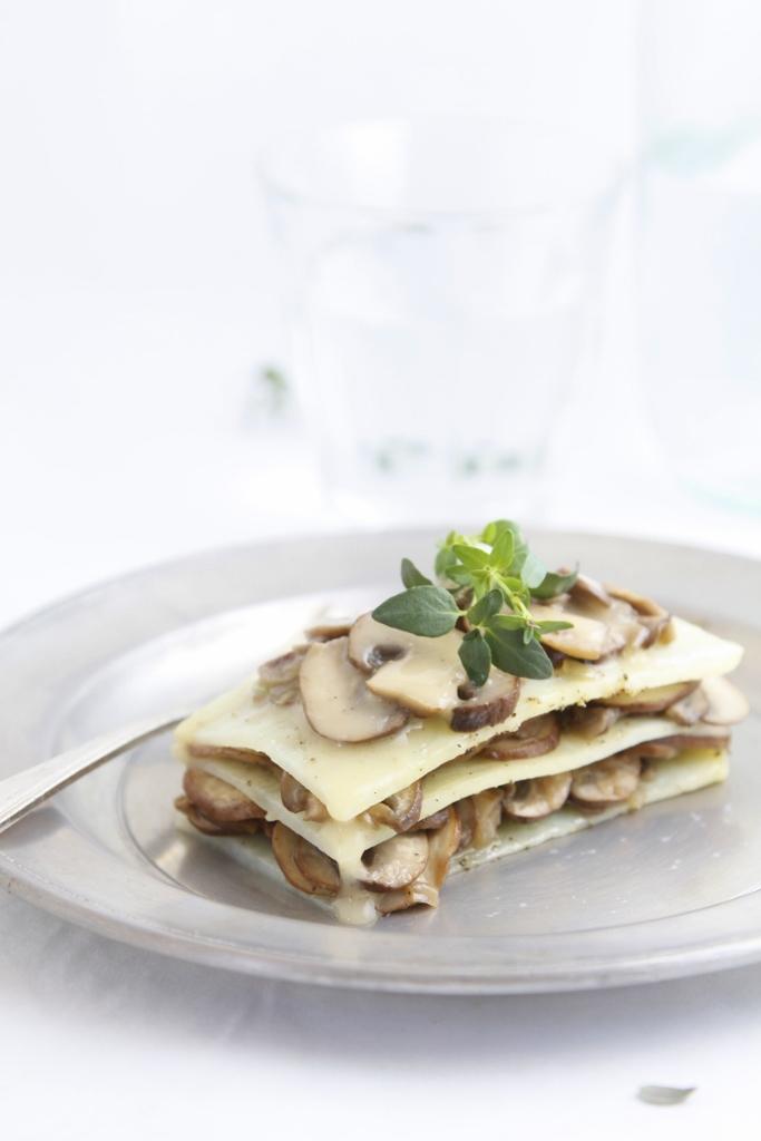 Potato and Mushroom Lasagna www.bellalimento.com