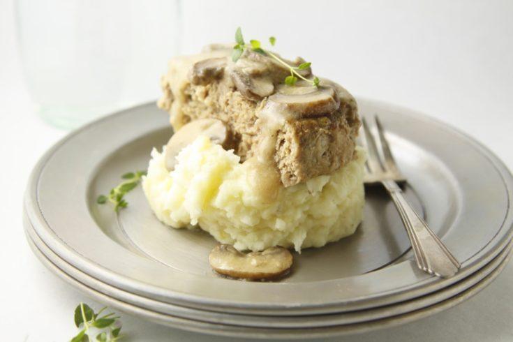 Meatloaf with Mushroom Gravy