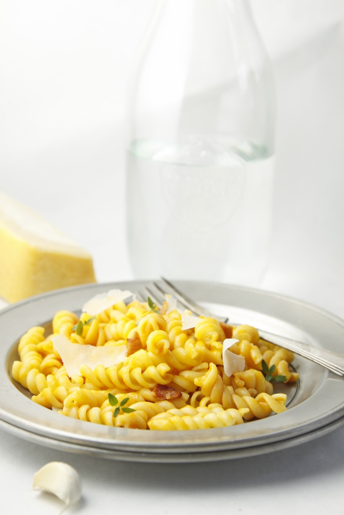 Creamy Carrot & Parm Pasta www.bellalimento.com