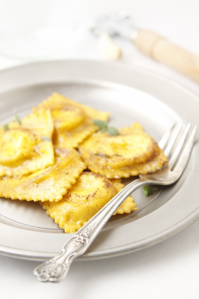 Roasted Carrot Ravioli www.bellalimento.com