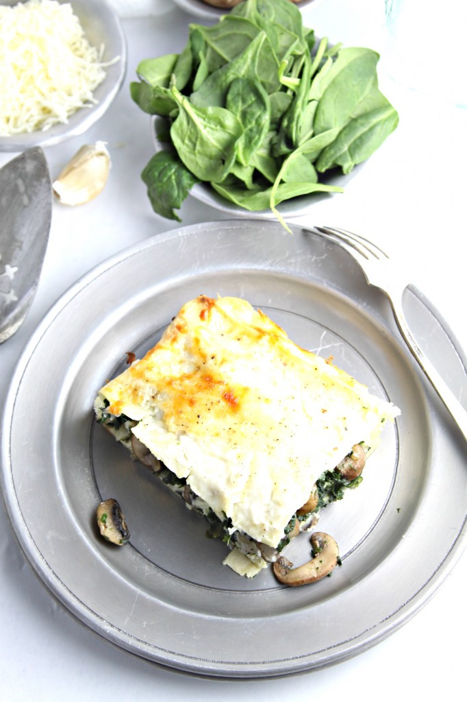 spinach and mushroom lasagna  bell' alimento