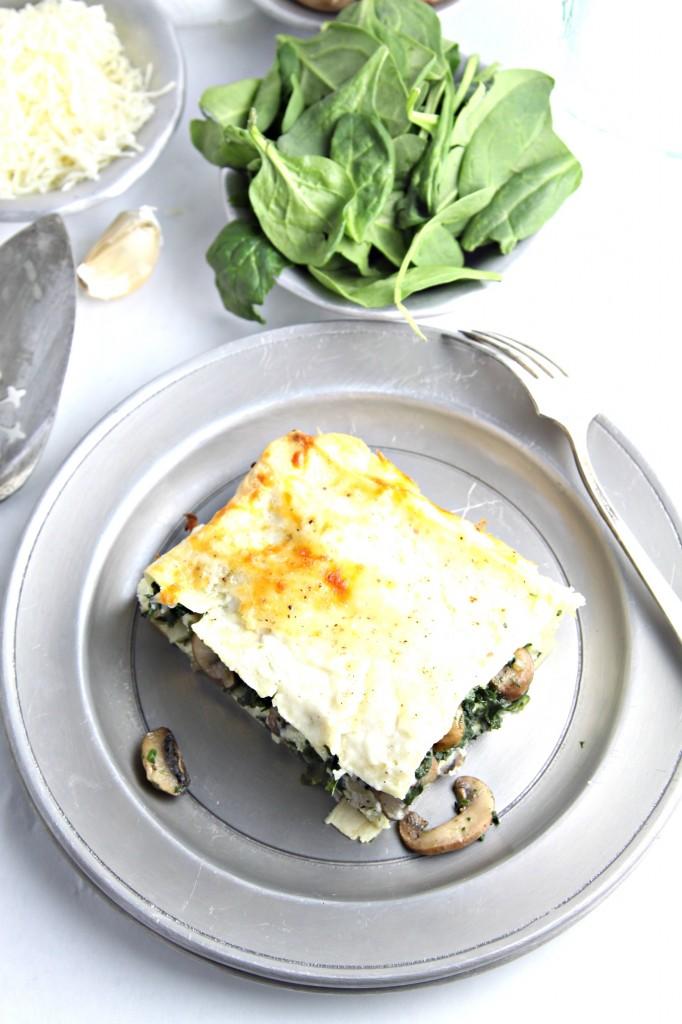 Spinach Shroom Lasagna