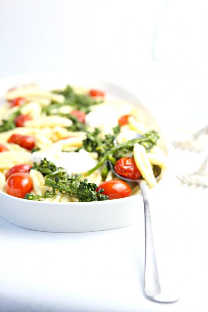 Pasta with Burrata and Brocolini www.bellalimento.com