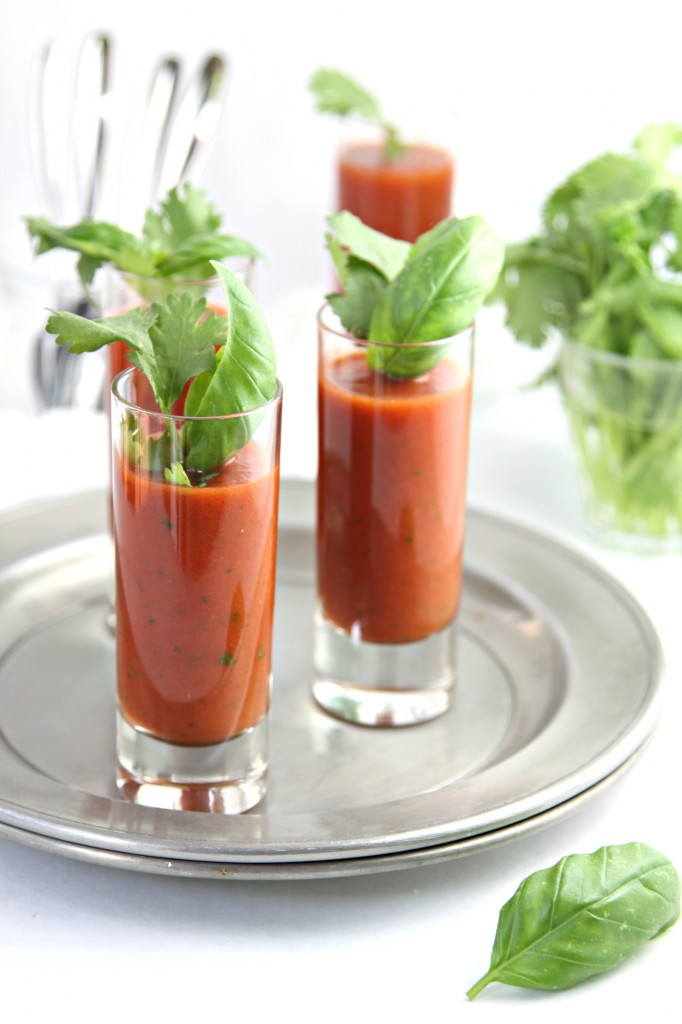 Chilled Spicy Tomato Soup Shots