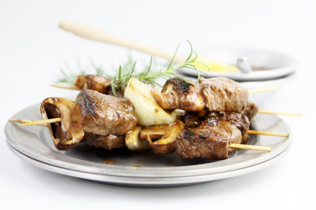 Grilled Steak and Mushroom Kebabs