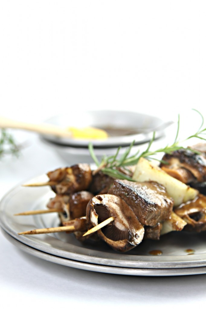 Balsamic Grilled Steak and Mushroom Kebabs 1
