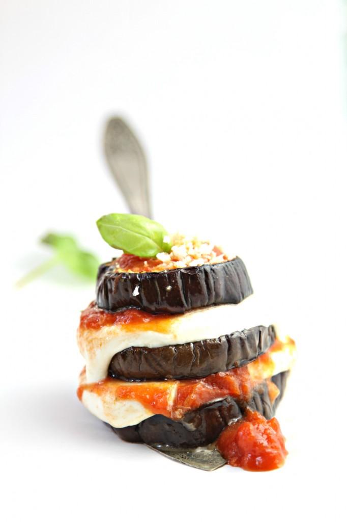 Baked Parmesan Eggplant Stacks