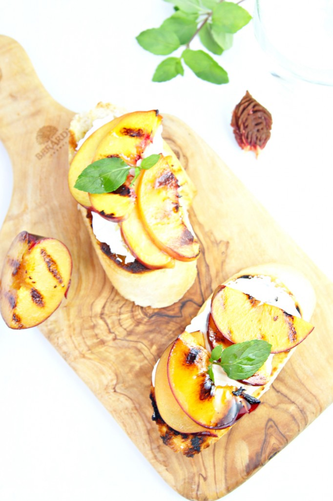 Grilled Fruit Bruschetta