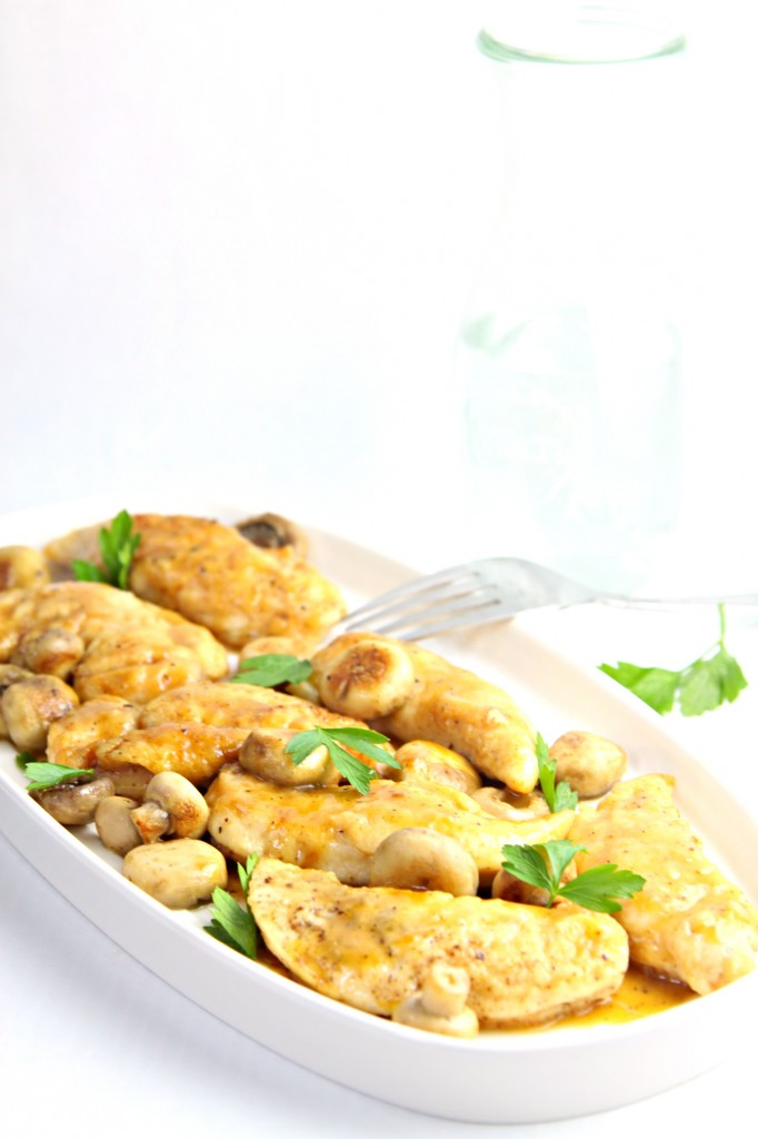 Chicken with Wine and Mushroom Sauce