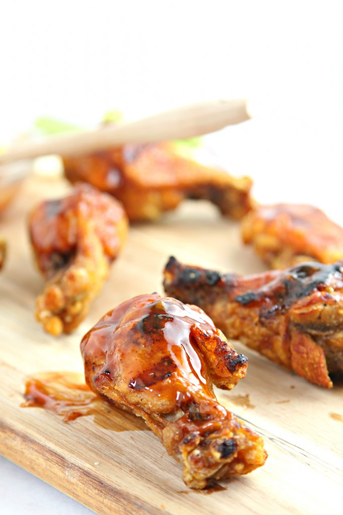 Honey Bourbon Grilled Chicken Wings