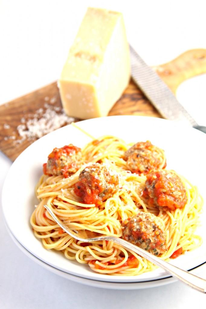 Spaghetti with Mushroom Meatballs