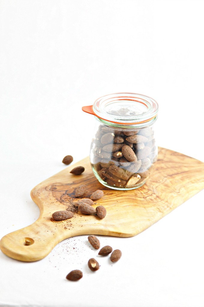 Spicy Dark Chocolate Espresso Roasted Almonds