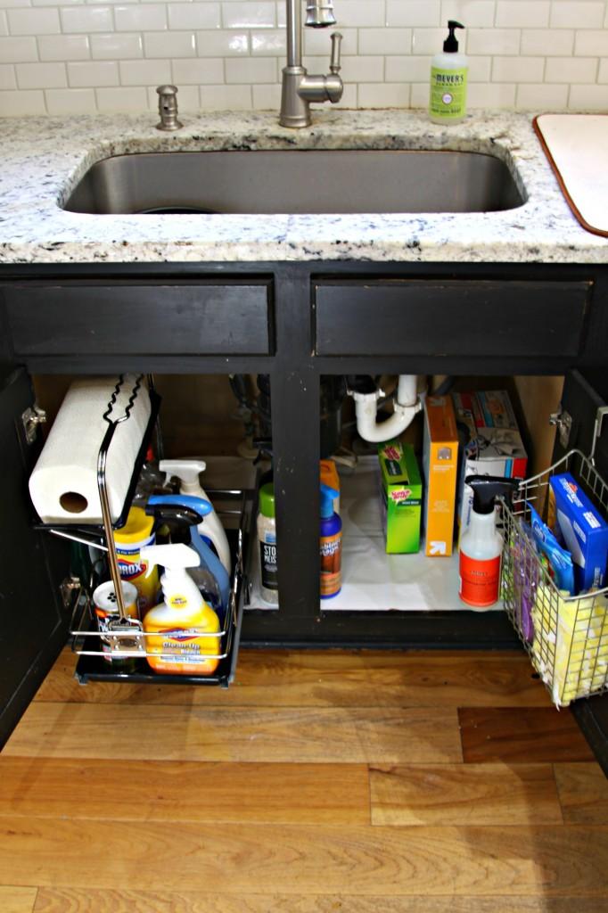 Under Sink Cabinet After