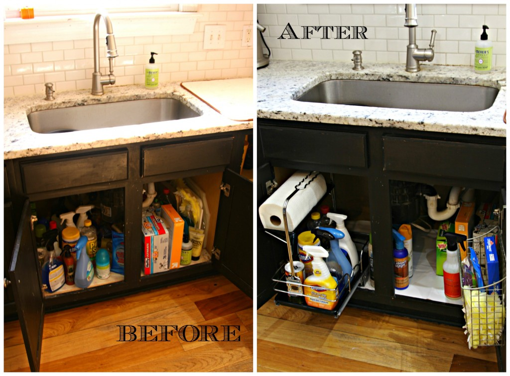 Under Sink Cabinet Before After