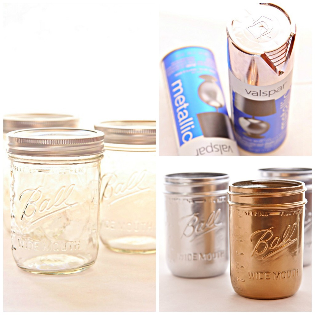 DIY Painted Mason Jars Collage