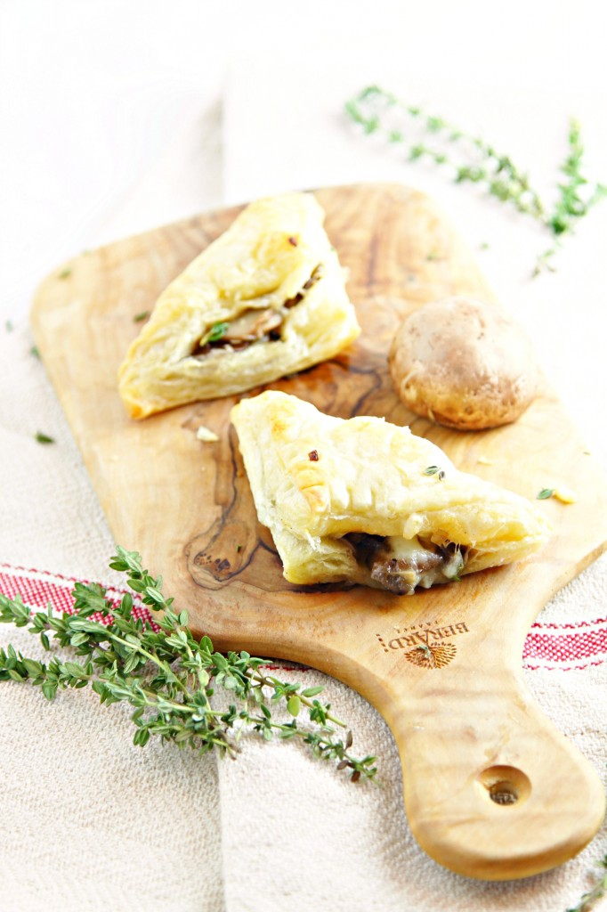 Sauteed Mushroom and Brie Puff Pastry Bites