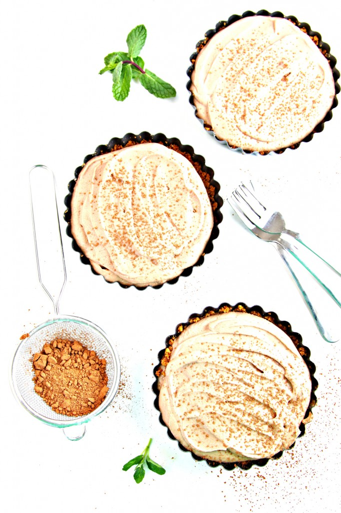Ginger Snap Crusted Chocolate Mousse Tarts 4