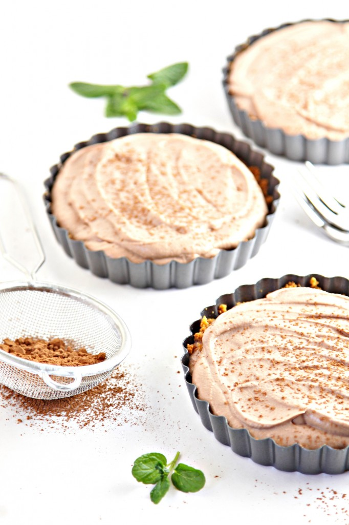 Ginger Snap Crusted Chocolate Mousse Tarts