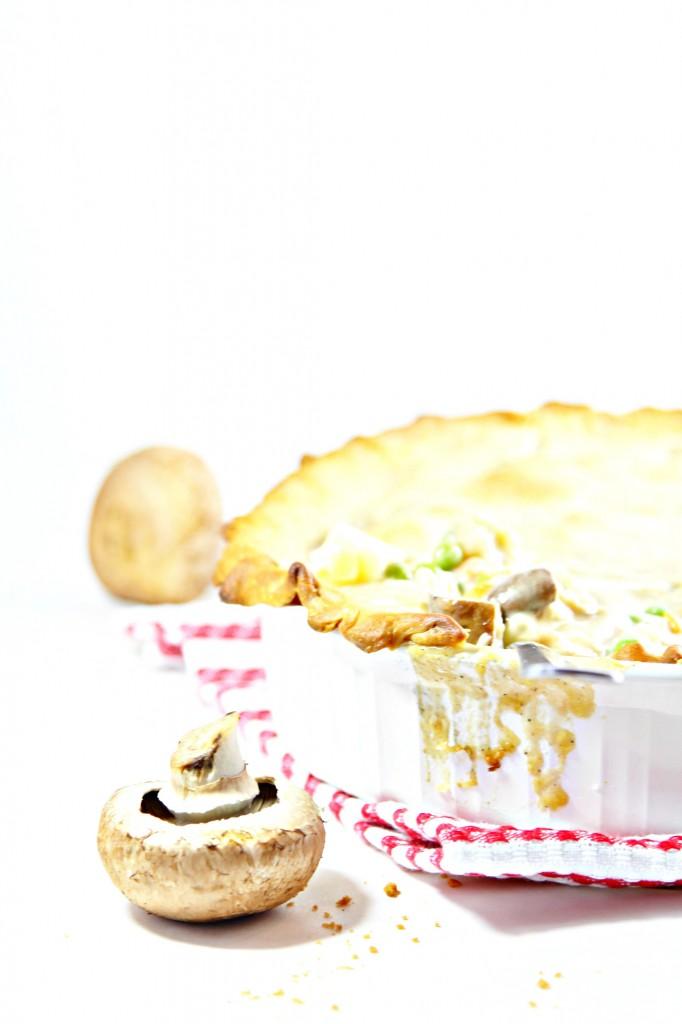Mushroom Marsala Chicken Pot Pie