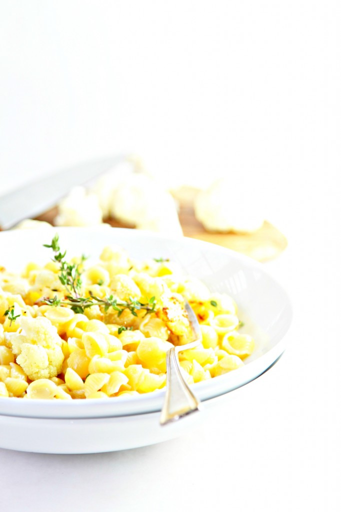 Sauteed Cauliflower and Thyme Mac and Cheese