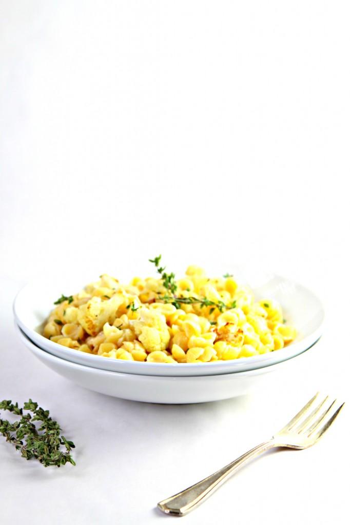 Sauteed Cauliflower and Thyme Mac and Cheese