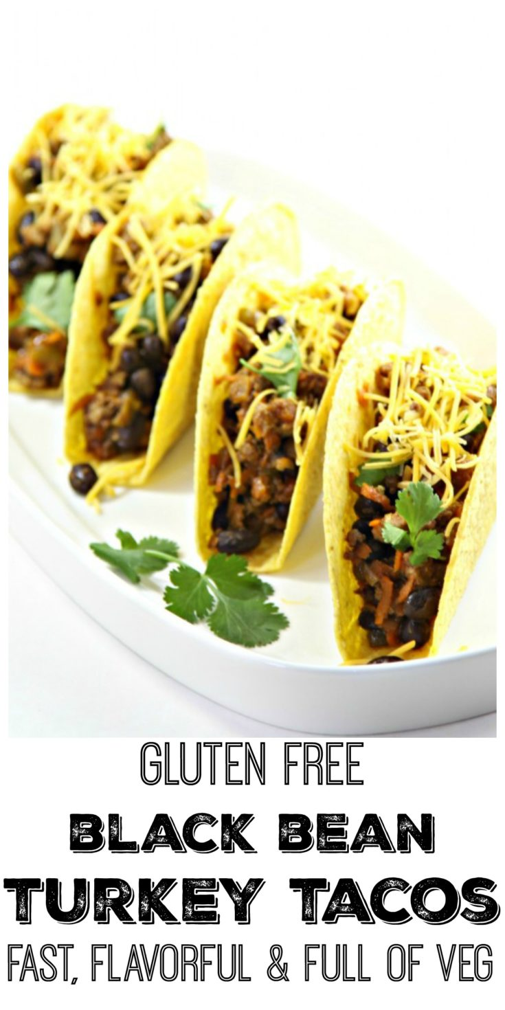 Black bean turkey tacos are full of flavor and simple to prepare #tacos #turkey #turkeytacos #easyrecipe #glutenfree #glutenfreerecipes