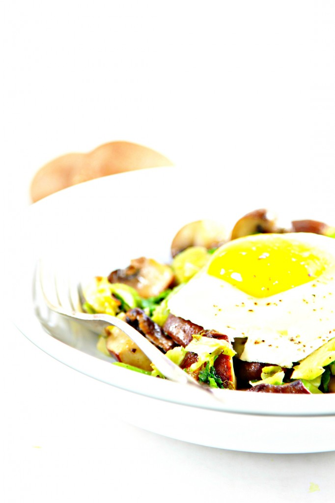 Mushrooms and Brussels Sprouts Hash