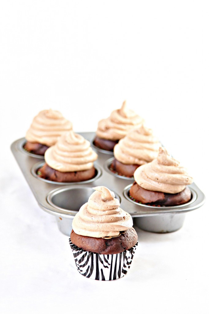 Cupcakes with Nutella Buttercream