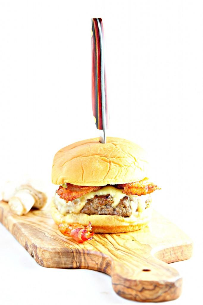 Bacon Mushroom Butter Burger