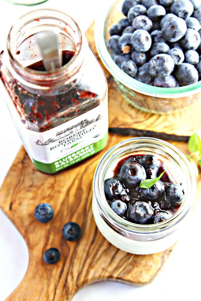 Panna Cotta with Blueberry Balsamic Sauce
