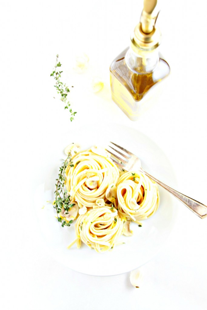 Linguine with Lemon Mushrooms and Herbs