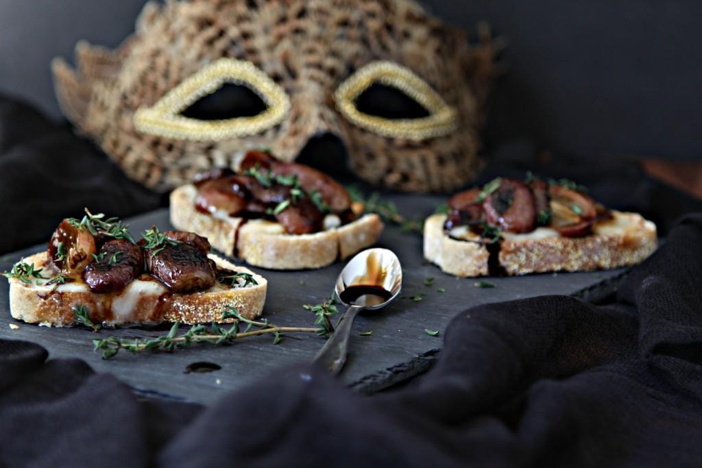 Roasted Grape and Brick Cheese Crostini