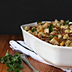 Sausage Apple and Herb Stuffing