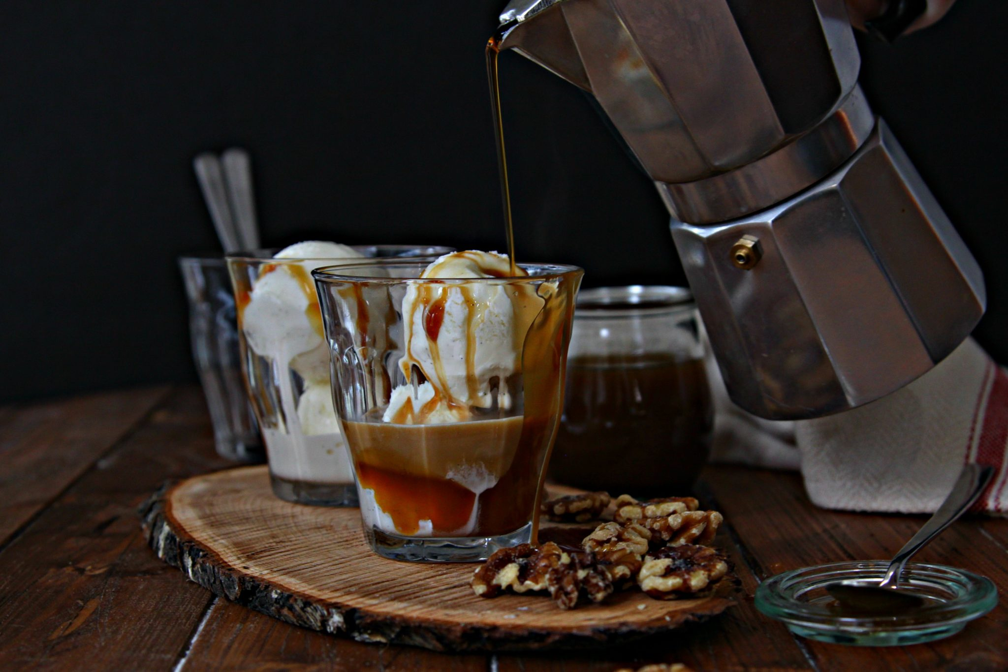 Whiskey Caramel Affogato
