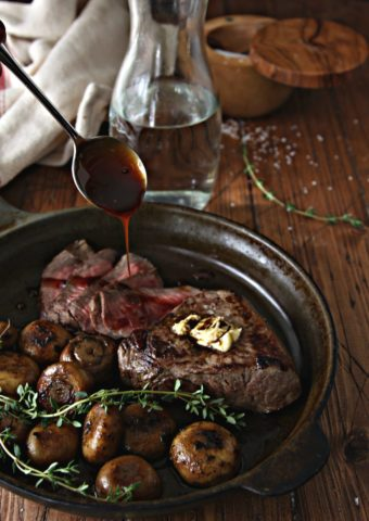 Steak and Sauteed Mushrooms #steak #beef #mushrooms