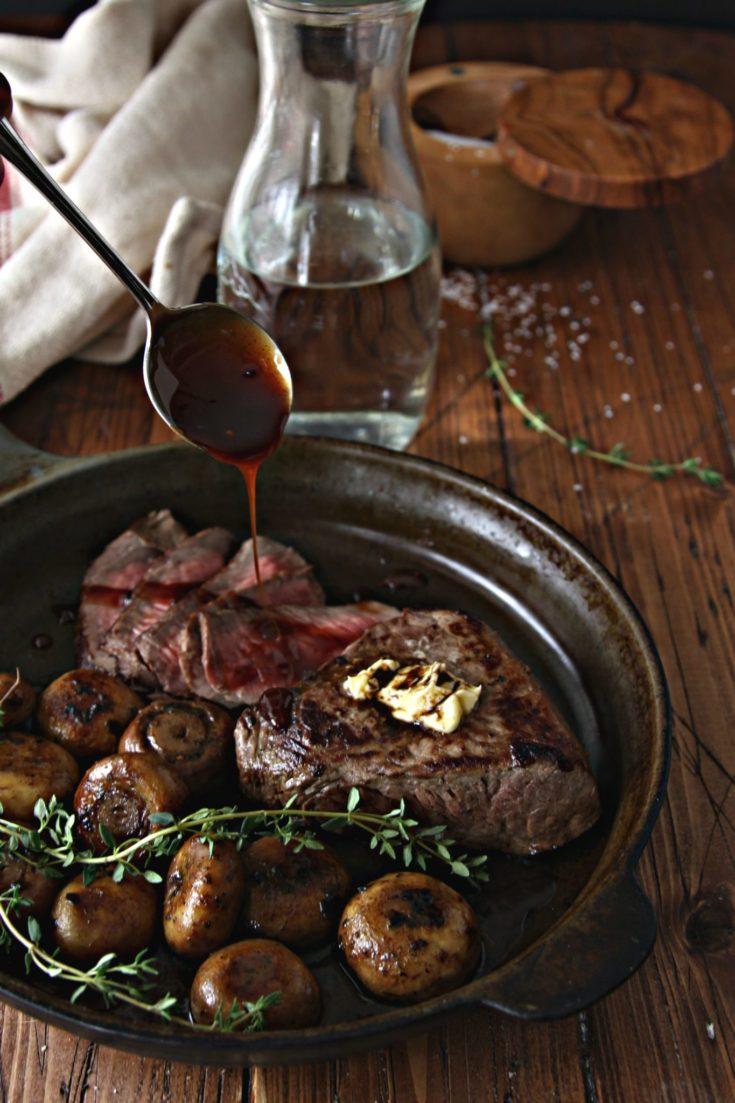 Steak and Sauteed Mushrooms #steak #beef #mushrooms