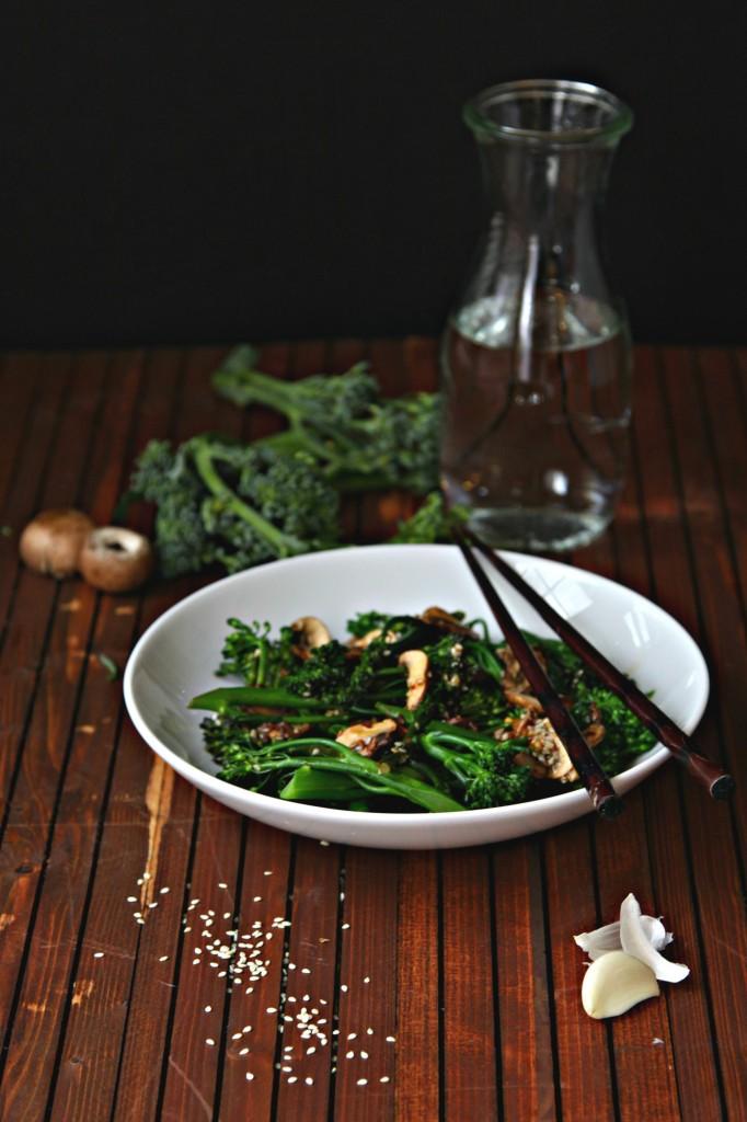 Broccolini Mushroom Salad