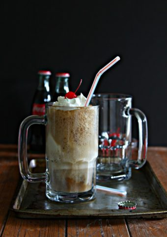 Bourbon Cherry Coke Float